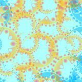 Vector abstract pastel pattern of blue soap bubbles and gears in. A sand pattern on azure background for fabrics or home textiles. To design and design items royalty free illustration