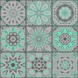 Vector abstract patchwork seamless pattern Stock Image
