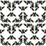 Vector abstract patroon met geometrische vormen Royalty-vrije Stock Foto's