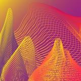Vector abstract patroon met gloeiende neonlijnen op futuristische achtergrond vector illustratie