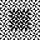 Vector Abstract Pattern. Vector geometric pattern in black and white. Can be used as is or seamlessly tiled for a background Royalty Free Stock Photo
