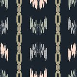 Vector abstract pattern with gold chains. royalty free illustration