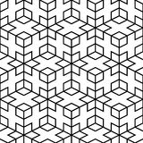 Vector abstract pattern - seamless geometric mesh Stock Images