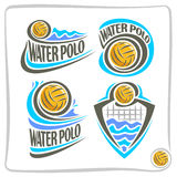 Vector abstract pictogram voor Water Polo Ball Royalty-vrije Stock Afbeelding