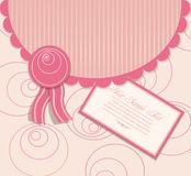 Vector abstract pink background with a greeting Royalty Free Stock Photography