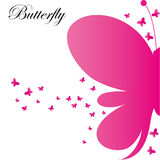 Vector Abstract Pink Butterflies Background stock photography