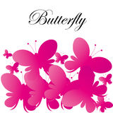 Vector Abstract Pink Butterflies Background royalty free stock photography