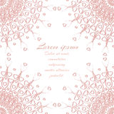 Vector abstract pink invitation design with hearts. Vector abstract pastel pink invitation design with hearts Stock Images