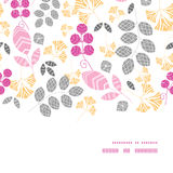 Vector abstract pink, yellow and gray leaves Stock Images