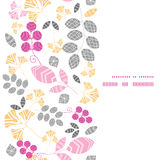 Vector abstract pink, yellow and gray leaves Royalty Free Stock Photos