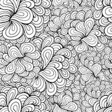 Vector abstract plant seamless pattern Stock Images