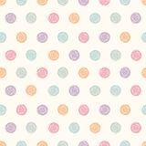 Vector abstract polka dot seamless pattern. Stock Images