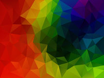 Vector abstract polygon background with a triangle pattern in multi full spectrum rainbow color Stock Photo