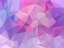 Vector abstract polygon background with a triangle pattern in pastel pink violet purple color Stock Photos
