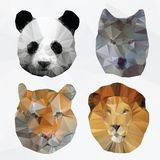 Vector abstract polygonal animals Royalty Free Stock Image