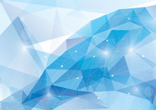 Vector abstract polygonal background. Blue abstract polygonal background - vector illustration Stock Photo