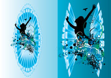 Vector abstract poster Stock Photography