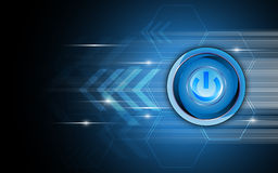 Vector abstract power button technology concept background Royalty Free Stock Images