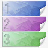 Vector abstract presentation paper banner set Royalty Free Stock Photos