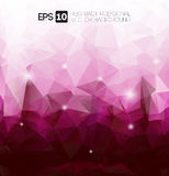 Vector abstract purple polygon Royalty Free Stock Photo