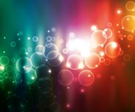 Vector abstract rainbow background. Vector colorful abstract blurred rainbow glowing circles background Stock Photos