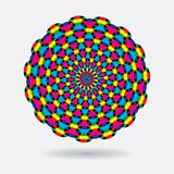 Vector abstract rainbow circles. On a white background royalty free illustration