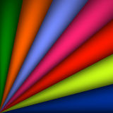Vector abstract rainbow curved background illustration - Abstract rainbow colorful background spreading arcs. EPS 10 vector illustration