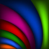 Vector abstract rainbow curved background illustration - Abstract rainbow colorful background spreading arcs. EPS 10 Royalty Free Stock Photos