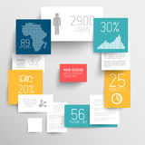 Vector abstract rectangles infographic template. Vector abstract squares background illustration / infographic template with place for your content Stock Image