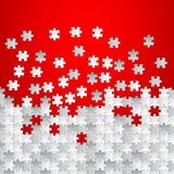 Vector Abstract red background made from white puzzle. Pieces Stock Photos