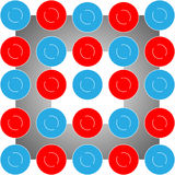 The Vector abstract red and blue circle on white background. Vector abstract red and blue circle on white background royalty free illustration