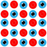 The Vector abstract red and blue circle on white background. Vector abstract red and blue circle on white background stock illustration