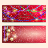 Vector abstract red Christmas and New Year Stock Image