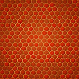 Red gold cellular background Royalty Free Stock Images