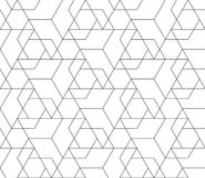 Vector abstract repeating classical background in black and whit Royalty Free Stock Photos