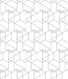 Vector abstract repeating classical background in black and whit Stock Photos