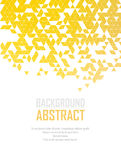 Vector Abstract retro geometric background. Template brochure design Royalty Free Stock Photography