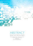 Vector Abstract retro geometric background. Template brochure design Stock Images