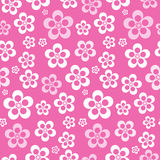 Vector Abstract Retro Naadloos Roze Bloempatroon Royalty-vrije Stock Foto's
