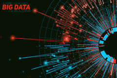 Free Vector Abstract Round Big Data Visualization. Futuristic Infographics Design. Visual Information Complexity. Stock Image - 91283671