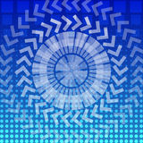 Vector abstract round geometric pattern background Stock Image
