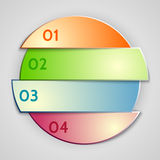 Vector abstract round list infographic element Royalty Free Stock Image
