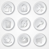 Vector abstract round paper icon set Royalty Free Stock Photo