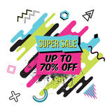 Vector abstract sale poster in retro style Stock Images