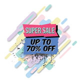 Vector abstract sale poster in retro style Royalty Free Stock Image
