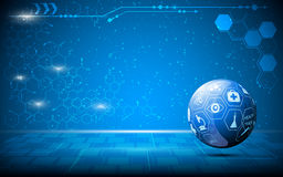 Vector abstract science globe innovation concept background Royalty Free Stock Images