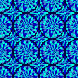 Vector abstract seamless blue pattern Royalty Free Stock Images