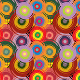 Vector abstract seamless colorful pattern with twisted circles Stock Images