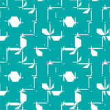 Vector abstract seamless composition best for use as wrapping pa. Per, symmetric ornate background created with simple geometric shapes Stock Photo