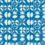 Vector abstract seamless composition best for use as wrapping pa. Per, symmetric ornate background created with simple geometric shapes, circles Stock Photography